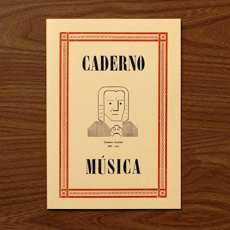 Caderno M�sica Scarlatti