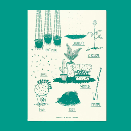 Poster Jardim Bot�nico II - Gardens and Music Lovers green