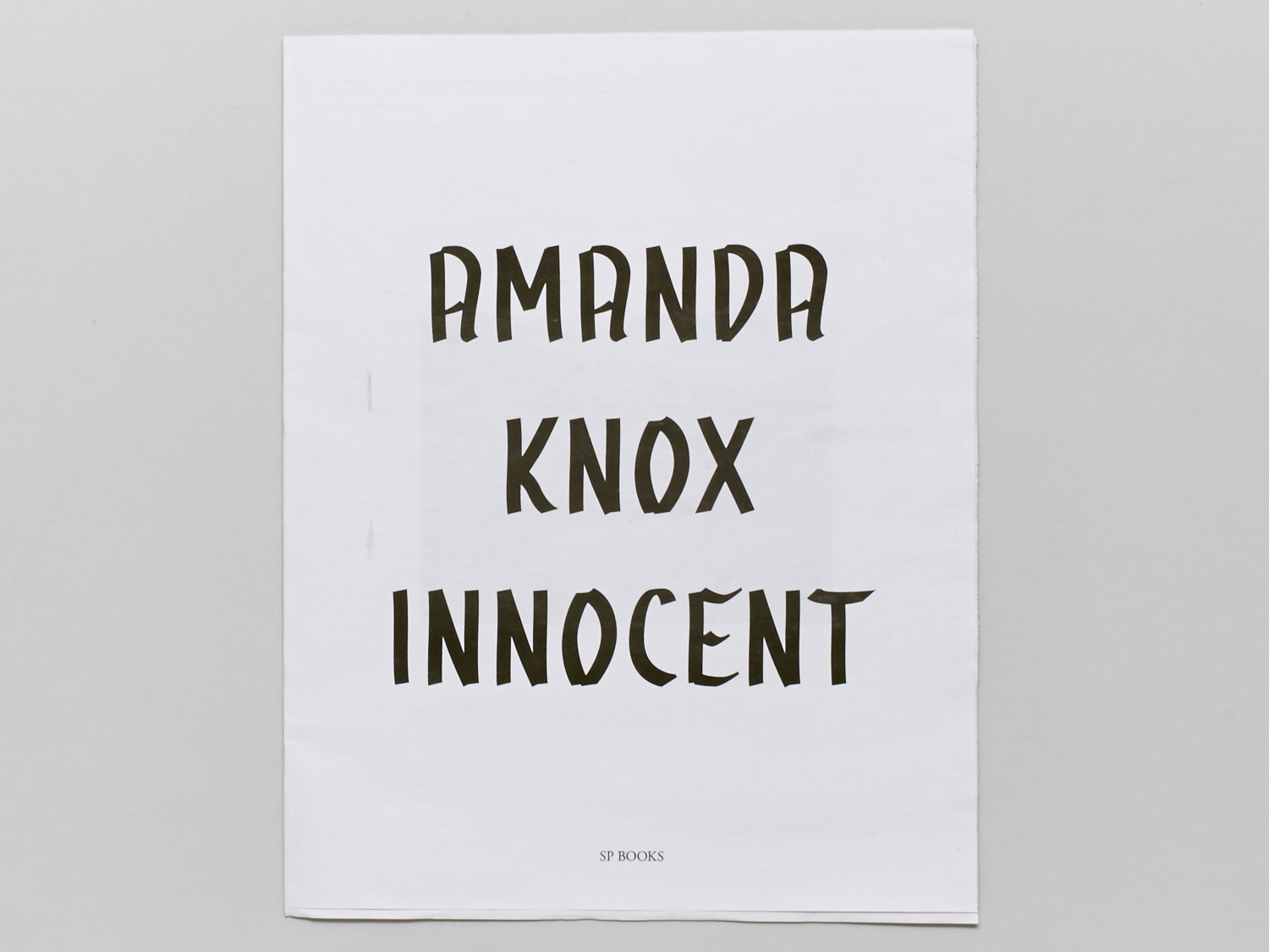 AMANDA KNOX INNOCENT AND GUILTY